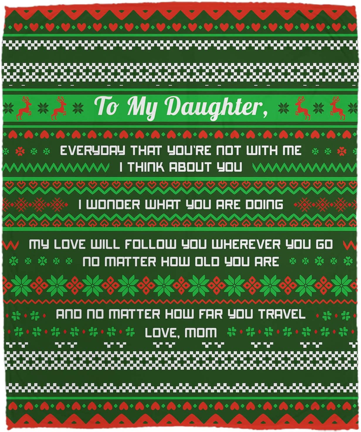Personalized Dealing full price reduction Ugly Christmas Seasonal Wrap Introduction Throws Blanket Daughter My Everyd to