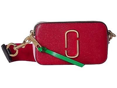 Marc Jacobs Snapshot (Fire Red Multi) Handbags