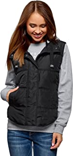 Ultra Women's Quilted Vest with Contrast Jersey Hood