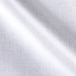 TELIO Avellino Stretch Linen White Fabric by The Yard