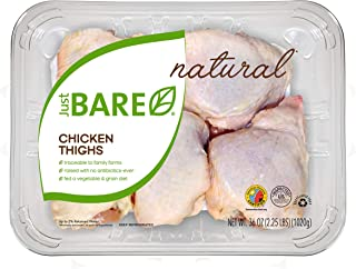 Just BARE All Natural Fresh Chicken, Family Pack of Thighs, 2.25 lb