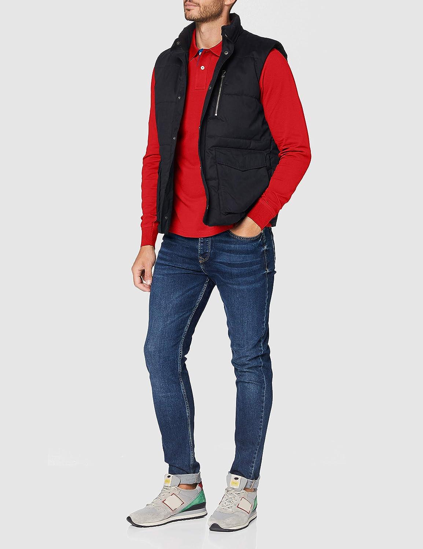 GANT Contrast Collar Pique LS Rugger Polo Uomo