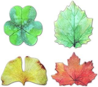 Leaf Shaped Self-Stick Notes, Scratch Pads, 4 Pads/Pack, 30 Sheets/Pad (Leaf)
