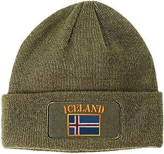 6abe6138dd14e Speedy Pros Iceland Flag Embroidered Unisex Adult Acrylic Patch Beanie