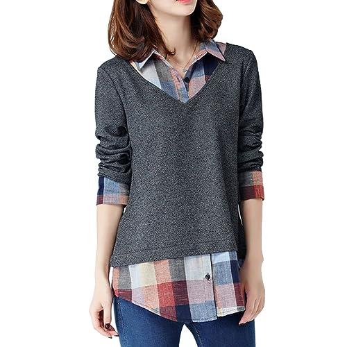Sweater With Collar Amazon Com
