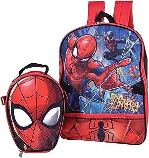 Marvel Spiderman Backpack Combo Set - Marvels Spiderman 2 Piece Backpack School Set (Red/Blue)