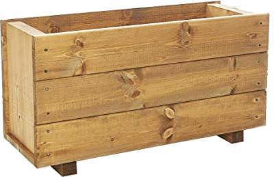 Set of 2 x Deep Wooden Trough Planters - Plant Container Box ... Wooden Planters Liverpool on wooden home, wooden trellis, wooden plates, wooden pedestals, wooden troughs, wooden bookends, wooden arbors, wooden bells, wooden pavers, wooden rakes, wooden bird feeders, wooden chairs, wooden garden, wooden decking, wooden bird houses, wooden toys, wooden benches, wooden plows, wooden bollards, wooden greenhouses,
