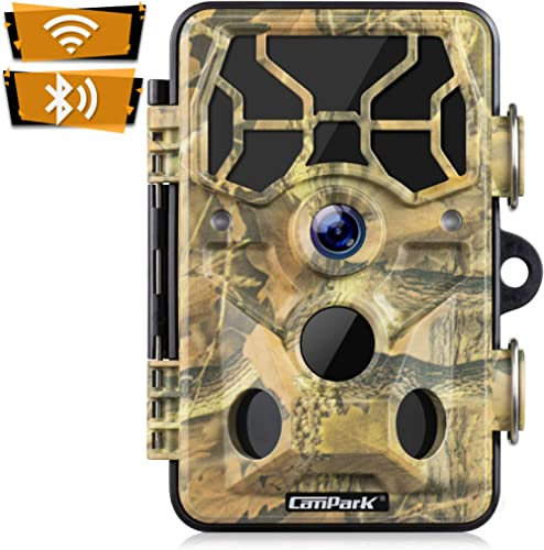 Campark Trail Camera-WiFi 20MP 1296P Hunting Game Camera with Night Vision Motion Activated for Outdoor Wildlife Moni...