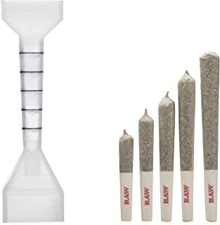 RAW 1 1/4 Pre-Rolled Cone Filler and Loader w/Measuring Guide - Includes: packNpuff Cone Filling Tool, and Wooden Packing Stick