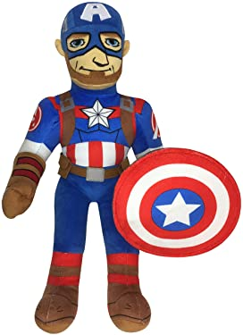 Jay Franco Marvel Super Hero Adventures Toddler Captain America Plush Stuffed Pillow Buddy - Super Soft Polyester Microfiber, 20 inch (Official Marvel Product)