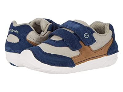 Stride Rite SM Mason (Infant/Toddler) (Navy/Truffle) Boys Shoes