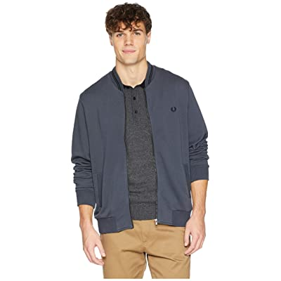 Fred Perry Bomber Neck Sweater (Charcoal) Men