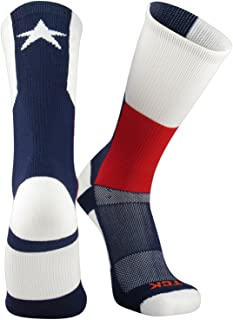 TCK Sports Texas Flag Crew Socks