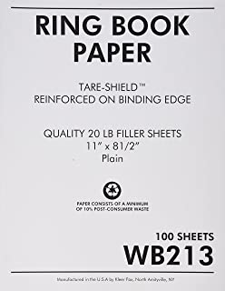 Sparco Reinforced Filler Paper, Plain, 11 x 8-1/2 Inches, White (SPRWB213)
