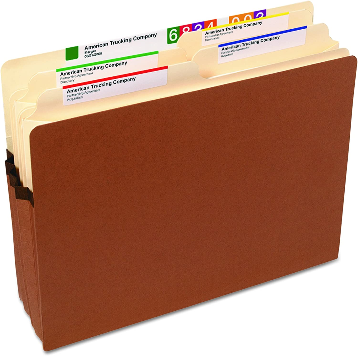 Smead File Pocket 3 X Pack of 25 Redrope 3-1//2 Expansion 73224 Letter Size Straight-Cut Tab 25 per Box