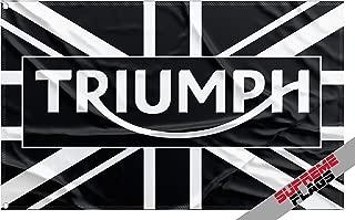 SF1 Triumph Flag Banner 3x5 ft Motorcycle Wall Garage Black
