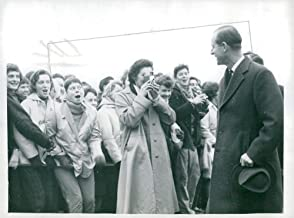Vintage photo of Prince Philip Duke of Edinburgh at rugby match