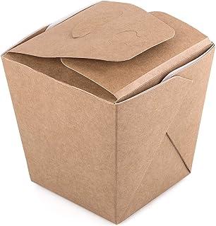 Paquete de 30 cajas de fideos de cartón Kraft 700 ml Contenedor de alimentos para llevar comida rápida desechable chino ca...