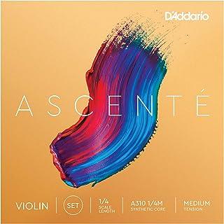 D'Addario Ascenté. Juego de cuerdas para violín, escala 1/4, tensión media