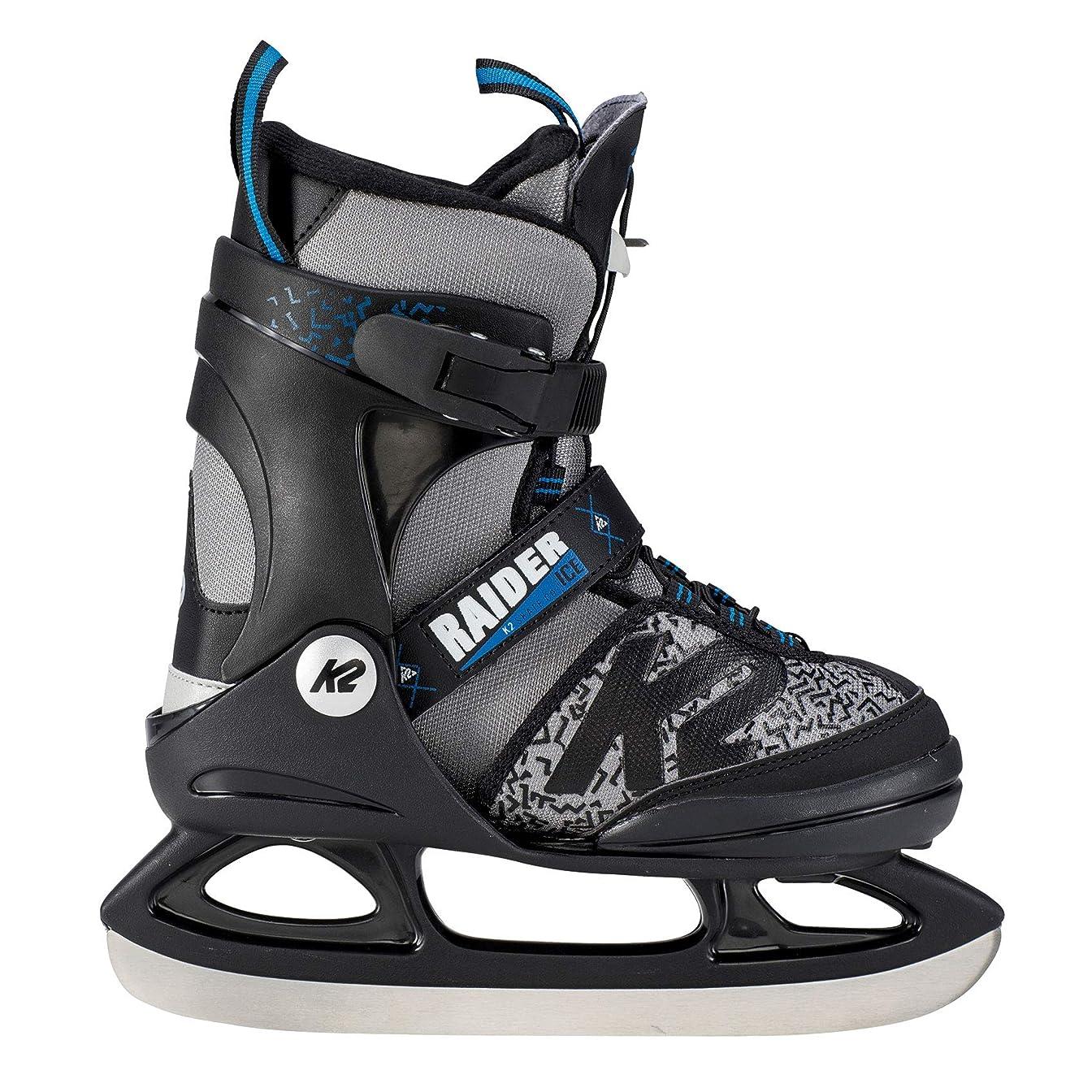 派手奴隷カテナ[ケーツー] ジュニア ボーイズ アイススケート フィギュアスケート スケート靴 RAIDER ICE グレー/ブラック I180300101