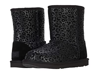 UGG Kids Classic II Glitter Leopard (Little Kid/Big Kid) (Black) Girls Shoes