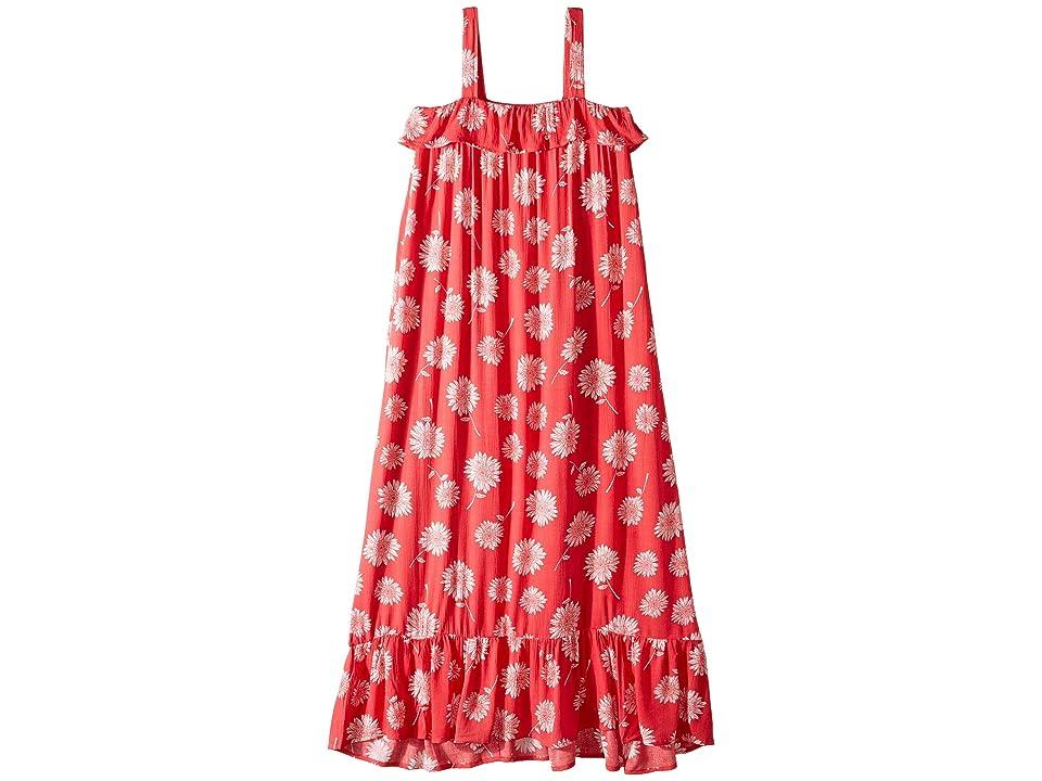 Billabong Kids Monterey Bae Maxi Dress (Little Kids/Big Kids) (Sunset Red) Girl