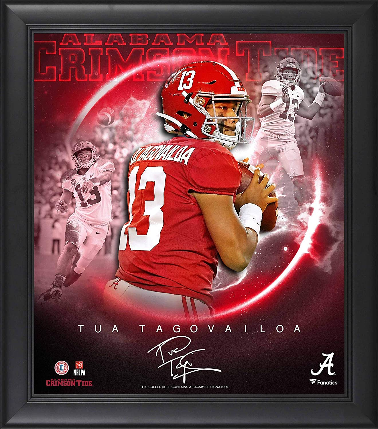 Tua Discount is also underway Tagovailoa Bombing new work Alabama Crimson Tide Framed of th Stars 15