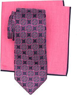 Ted Baker London Men's Mandala Print Silk Tie & Pocket Square Set
