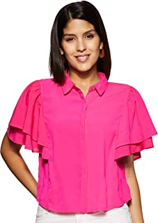 ABOF Women's Plain Regular fit Shirt