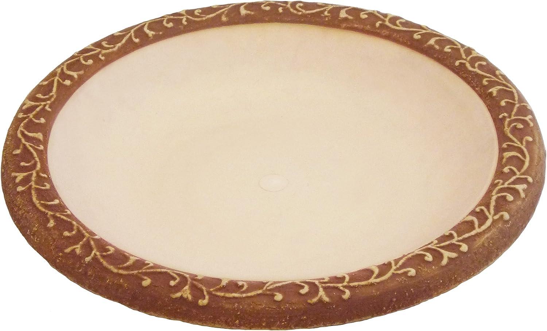 Tierra Garden 4-1763T Latest item Semi-Gloss Outstanding Bird Bowl Brown Bath with Matte