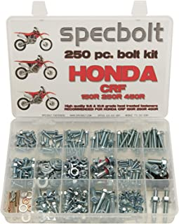 Specbolt Fasteners 250pc Maintenance Restoration OE Spec Motorcycle Bolt Kit for Honda CRF150 CRF250 CRF250 MX Dirtbike CRF 150 250 450