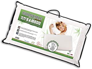 V.I.P. Very Important Pillow V.I.P. Almohada Memory Protect, 48 x 78 cm, 95% poliéster, 5% Fibra de bambú, Fabricada en Italia, Color Blanco