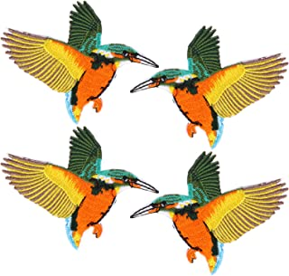 EXCEART 4pcs Iron on Hummingbird Patches Sew on Patches Embroidered Repair Applique for DIY Craft Sewing Clothing (Colorful)