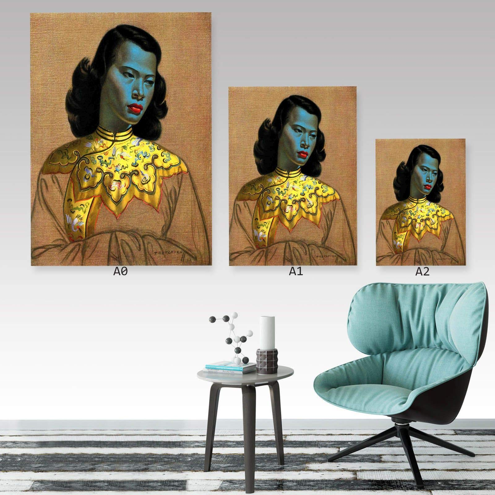 Vladimir Tretchikoff Lady of the Orient Girl A0,A1,A2,A3,A4 GLOSSY Wall Poster