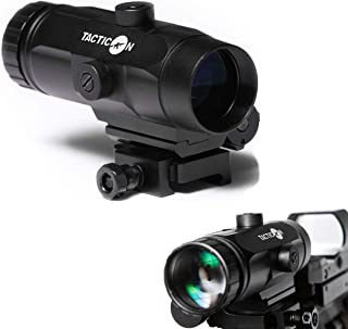 Falcon V1 3X Red Dot Magnifier with Flip to Side Mount for Picatinny Rail and 2.5 inches..