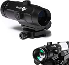 Tacticon Falcon V1 3X Red Dot Magnifier with Flip to Side Mount for Picatinny Rail and 2.5 inches of Eye Relief