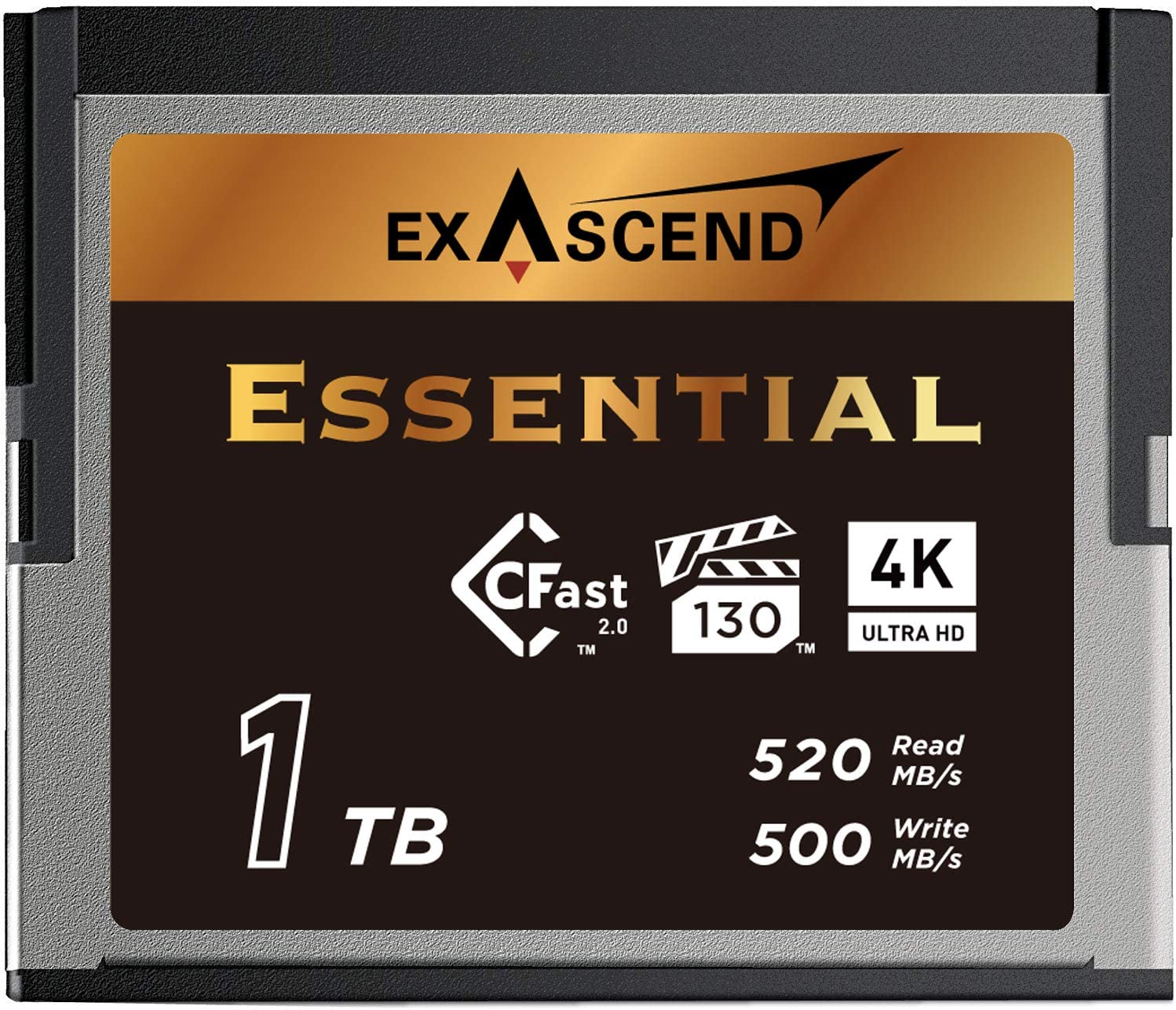 Exascend Essential 1TB CFast 2.0 Memory Card, up to 520MB/s, Approved for Blackmagic URSA Mini Pro 12K, Canon XC15/C300MKII, and Others