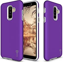 CoverON [Rugged Series] Galaxy A6 Plus 2018 Case, Tough Protective Shock Absorbing Phone Cover Easy-Press Metal Buttons Samsung Galaxy A6 Plus 2018 Purple B128-CO-SAA6PLUS2018-HY21-PU
