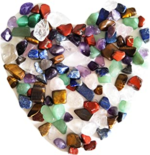 Mixed Natural Crystal 7 Chakra Stones, One Bag, About 100 Pieces, Weights About 160 Grams in Total, Small Size