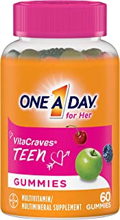 One A Day VitaCraves Teen for Her Multivitamin Gummies, Supplement with Vitamin A,..