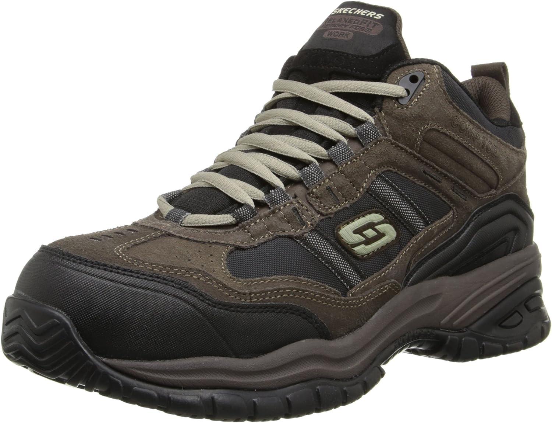 Skechers for Work Men's 70727 Soft Stride Canopy Slip Resistant Work Boot
