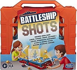 Hasbro Gaming Battleship Shots Strategy Ball-Bouncing Game - Multicolour