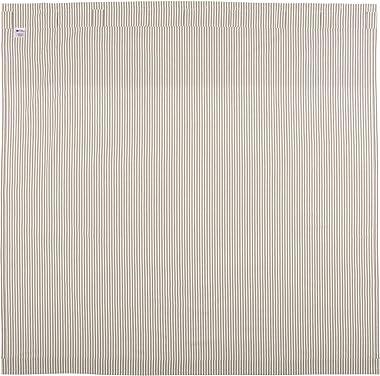 Farmhouse Ticking Stripe Shower Curtain, 72x72, Taupe