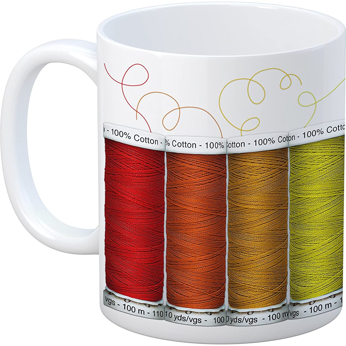 Happy Lines Gifts Happy Lines Mug Spools of Thread Quilt Ceramic MugSpoolOfThread