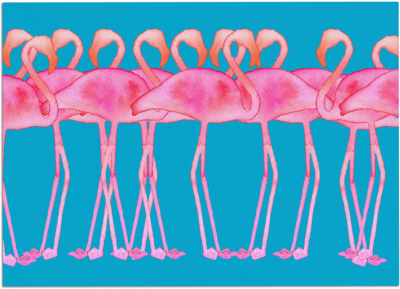 KESS InHouse KIH324ADM02 Kess Original Flamboyance Pink Animals Dog Place Mat, 24  x 15