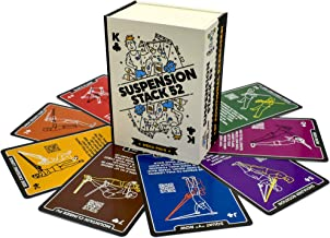 Stack 52 Suspension Exercise Cards. Compatible with All Suspension Trainers. Suspended Bodyweight Resistance Workout Game. Video Instructions Included. Fun Home Fitness Program.