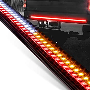 "49"" LED Tailgate Light Bar for Trucks [Rigid Aluminium Frame] [Amber Sequential Turn Signal] [Tail & Reverse Light] [IP66 Waterproof] Rear Truck Tail Under Tailgate Brake Light Bar for Cars Trailer"