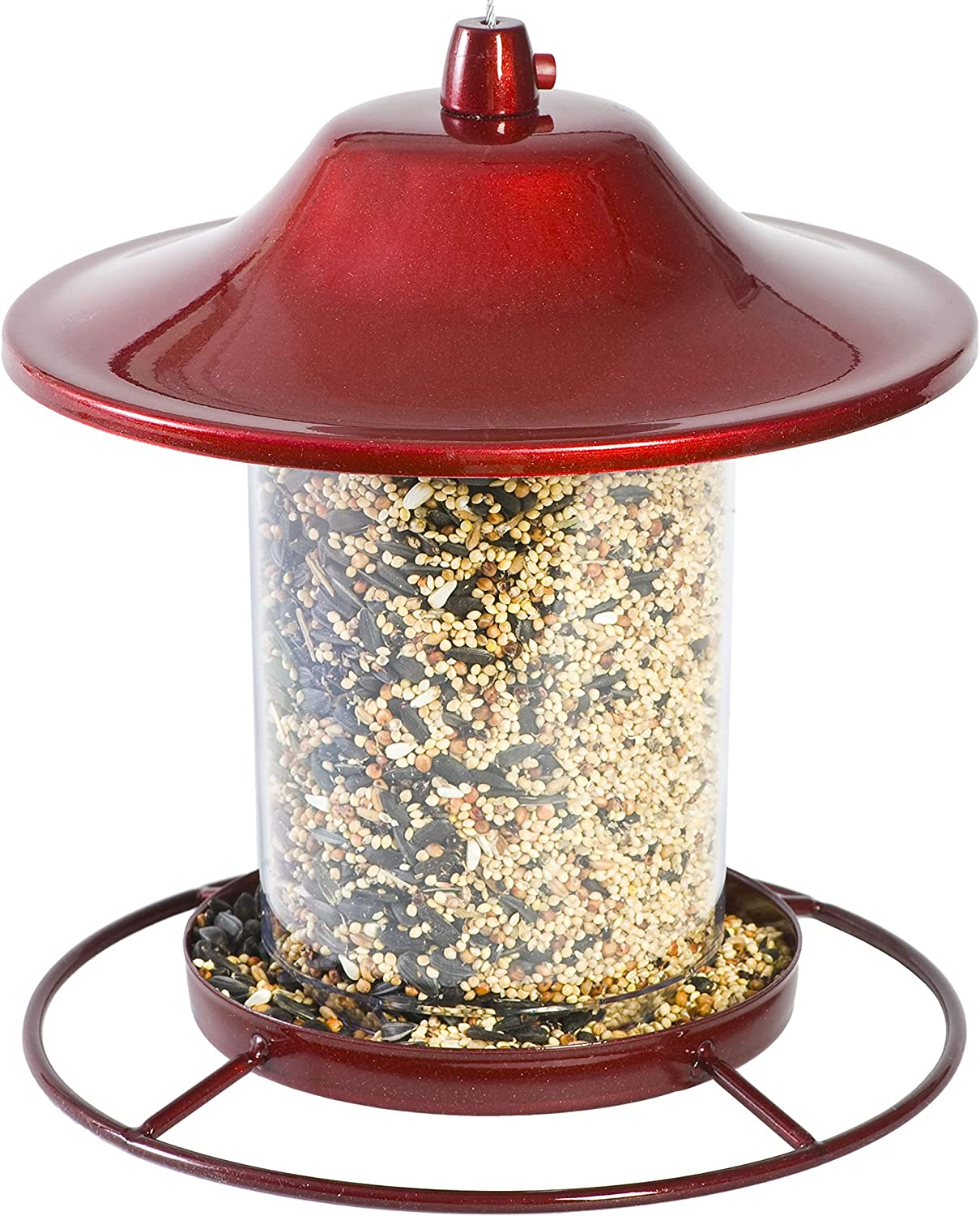 Perky-Pet 312R Red Financial sales sale Sparkle Panorama Bird Japan's largest assortment Feeder