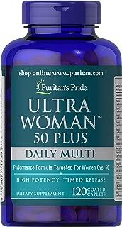 Puritans Pride Ultra Woman 50 Plus Multi-Vitamin, 120 Count