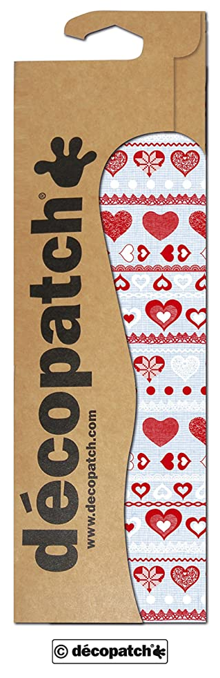 Decopatch Paper Hearts, Ribbons and Lace, Pack of 3